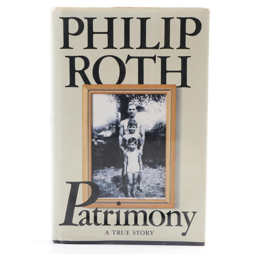 """Philip Roth Signed """"Patrimony"""" First Edition"""