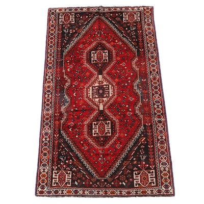 5'3 x 9'0 Hand-Knotted Persian Abadeh Wool Area Rug