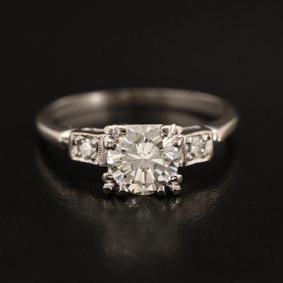 14K 1.00 CTW Diamond Three Stone Ring