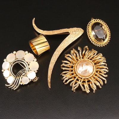 Vintage Jewelry Featuring Trifari and Gold Filled Converter Brooch