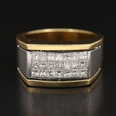 18K Two-Tone 1.31 CTW Diamond Ring