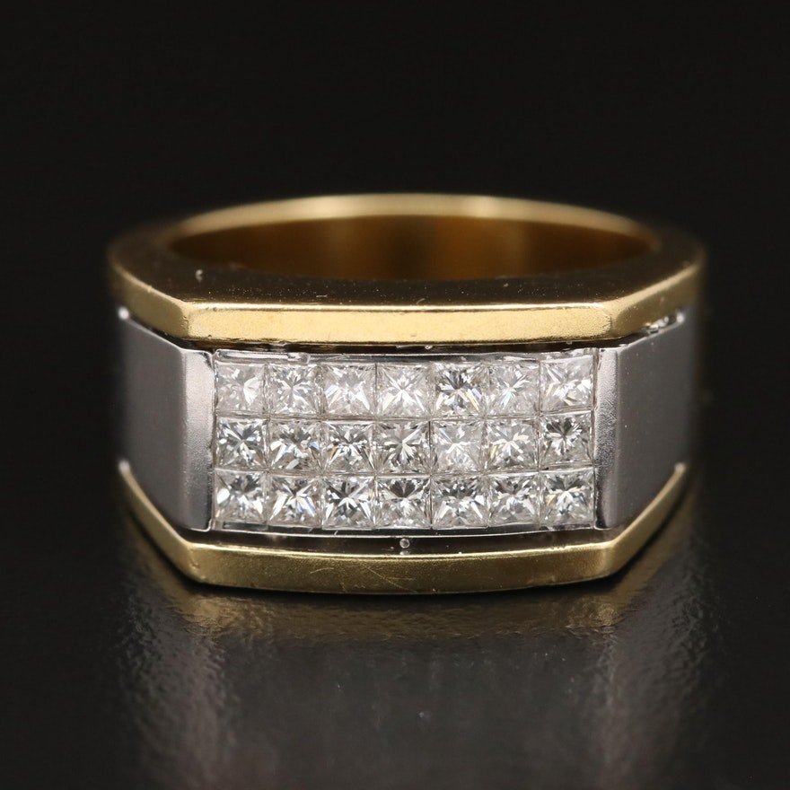 18K Two-Tone 1.31 CTW Diamond Ring