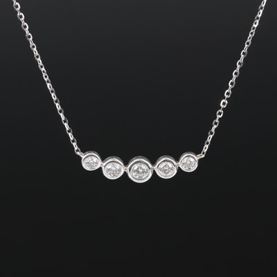 14K Graduated Diamond Necklace