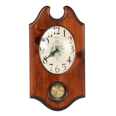 Verichron Walnut Wood Wall Clock