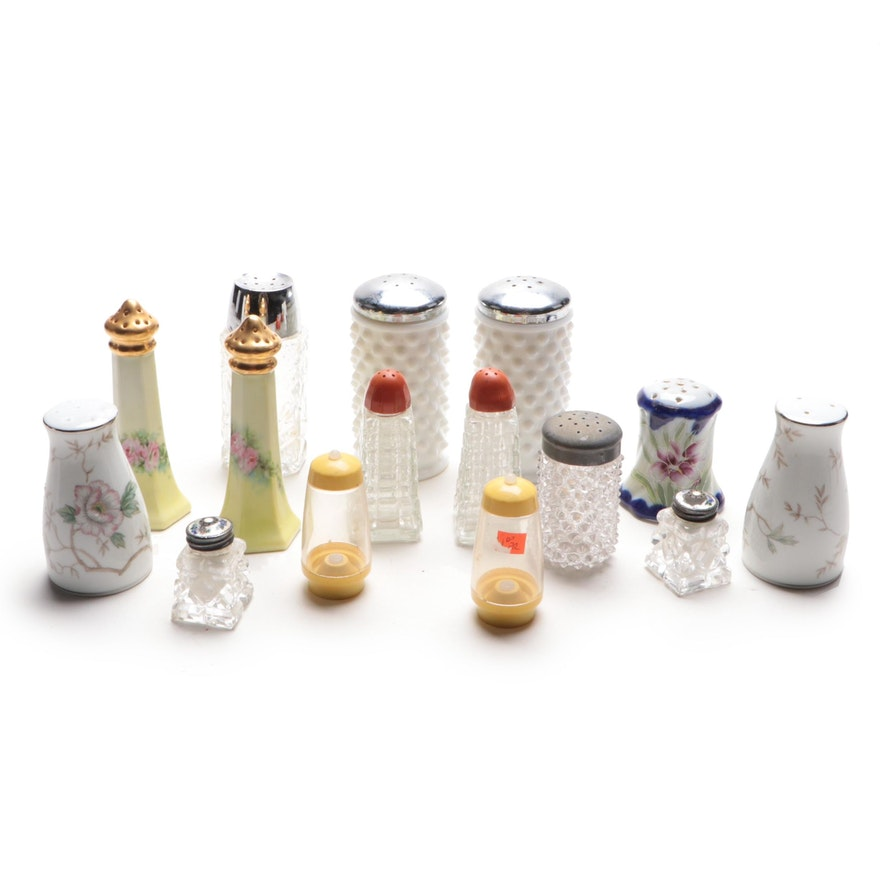 Noritake, Eamag, Hobnail Milk Glass and Other Salt and Pepper Shakers