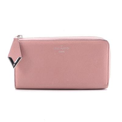 Louis Vuitton Comete Wallet in Blush Veau Cachemire Leather
