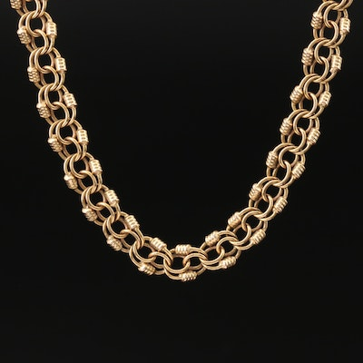 18K Fancy Link Necklace
