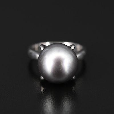 Platinum Pearl Ring
