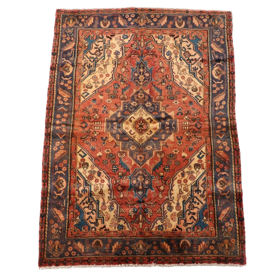 4'11 x 7'1 Hand-Knotted Northwest Persian Wool Area Rug