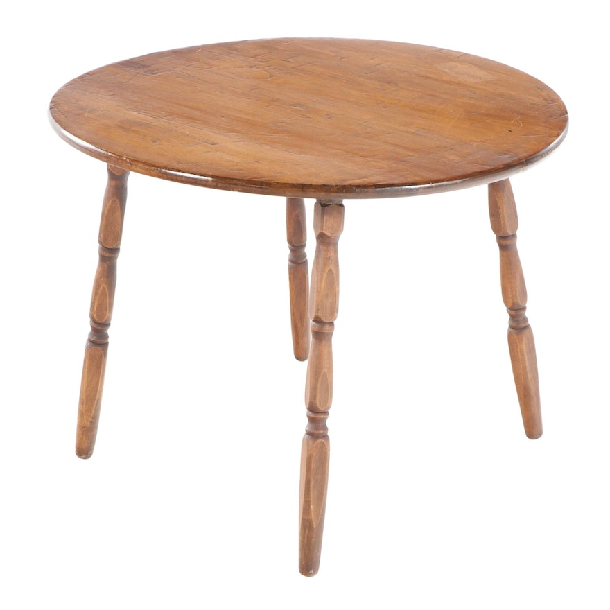 American Primitive Style Maple Child's Table, Mid-20th Century
