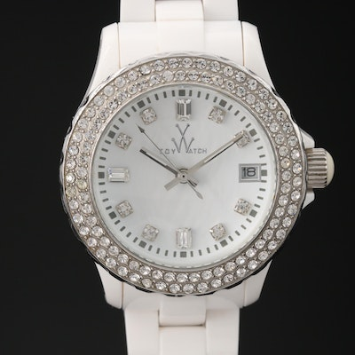"Toy Watch ""Plastermatic White Stones"" Quartz Wristwatch"