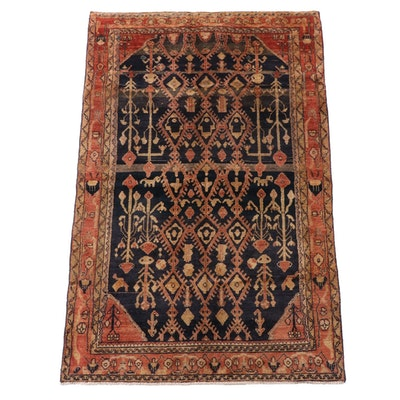4'7 x 7'3 Hand-Knotted Northwest Persian Kurdish Wool Area Rug