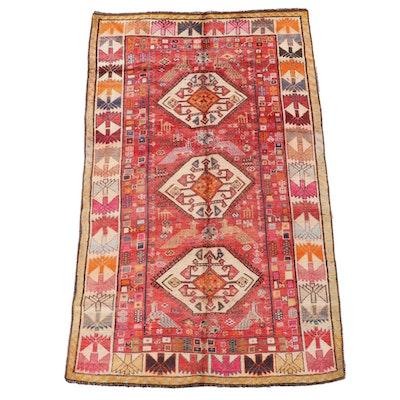 5'1 x 8'3 Hand-Knotted Caucasian Akstafa Wool Area Rug