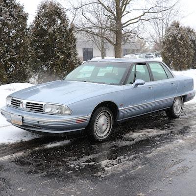 1996 Blue Oldsmobile 98 Regency Four-Door Sedan