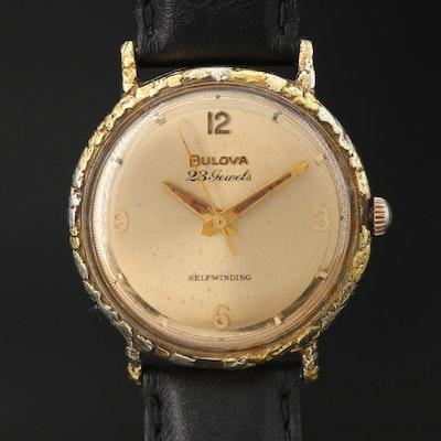 1964 Bulova Regatta 23 Nugget Bezel 10K Rolled Gold Plate Automatic Wristwatch