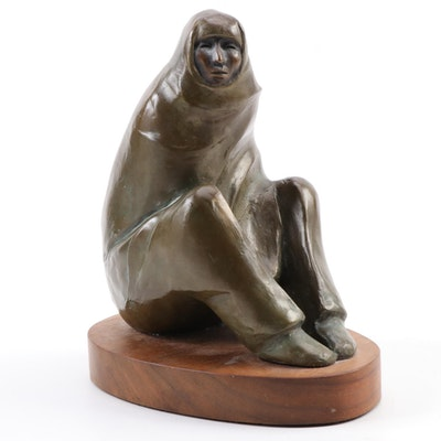 "Allan Houser Bronze Sculpture ""Tiwa Man,"" 1994"