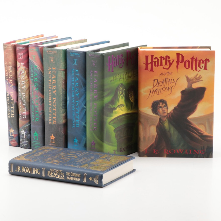 "First American Edition ""Harry Potter"" Complete Set and ""Fantastic Beasts"" Script"