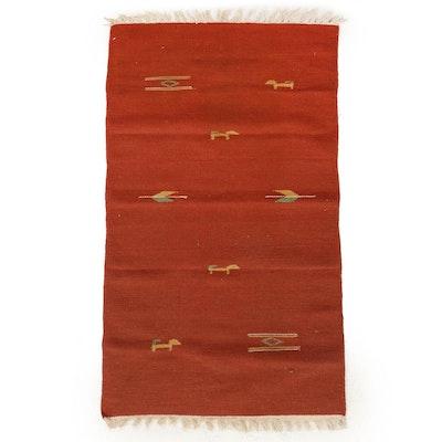 2'2 x 4'9 Handwoven Indo-Persian Gabbeh Kilim Accent Rug