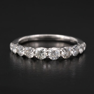 Platinum 1.00 CTW Tapered Diamond Band