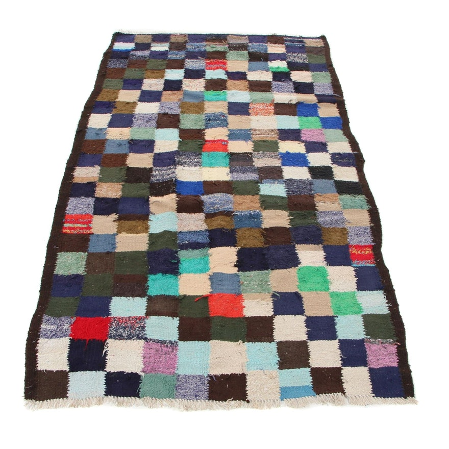 4'11 x 8'7 Handwoven Persian Kilim Rug