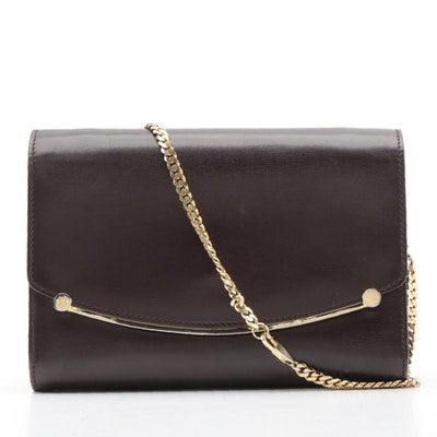Bally International Convertible Clutch Purse in Brown Leather