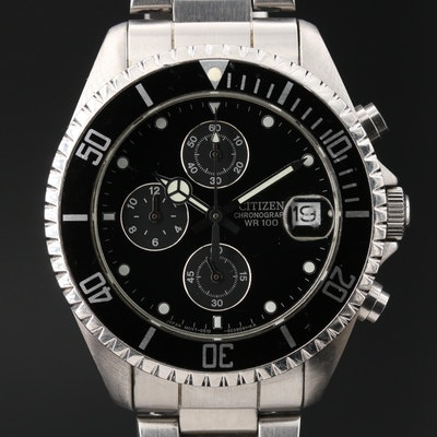 Citizen Chronograph Stainless Steel Quartz Wristwatch