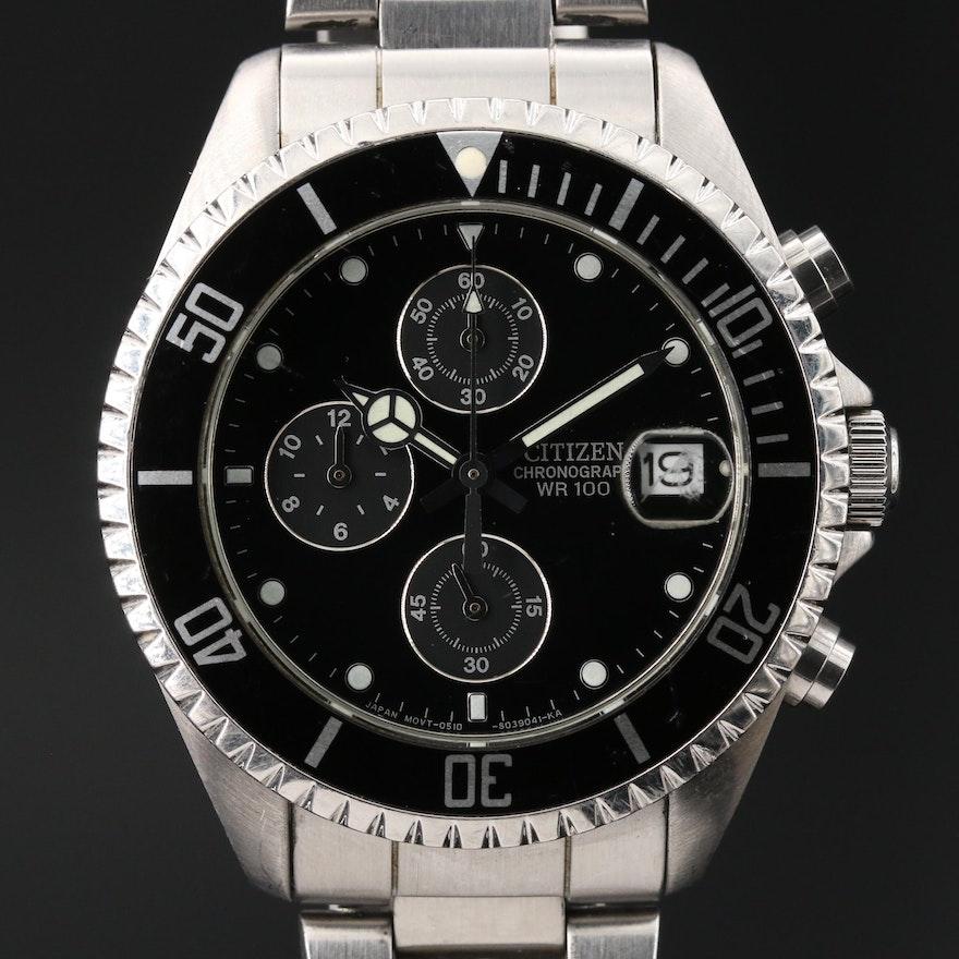 Citizen Chronograph Stainless Steel Quartz Wristwatch