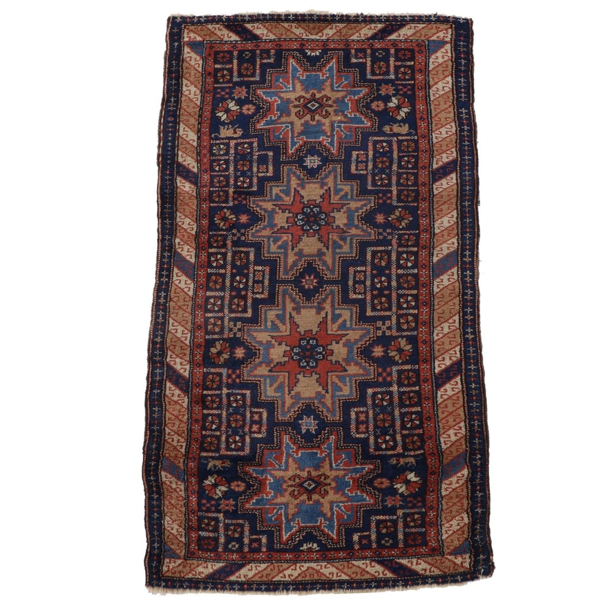 3'1 x 5'11 Hand-Knotted Caucasian Kazak Wool Area Rug