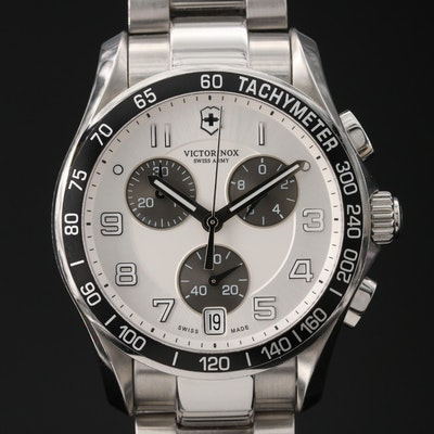 Victorinox Swiss Army Chrono Classic Stainless Steel Quartz Wristwatch
