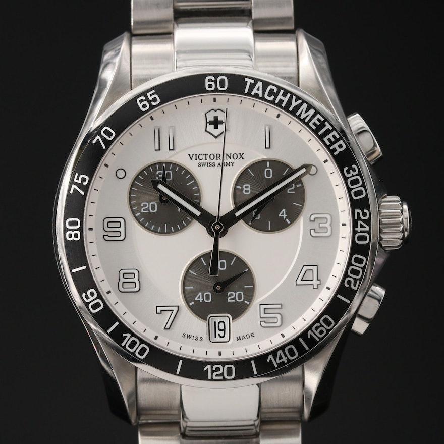 Victorinox Swiss Army Chrono Classic Stainless Steel Quartz Wristwatch