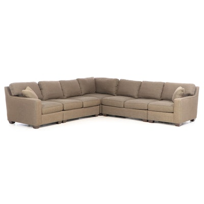 """Sherrill Furniture """"Precedent"""" Contemporary Upholstered Sectional Sofa"""