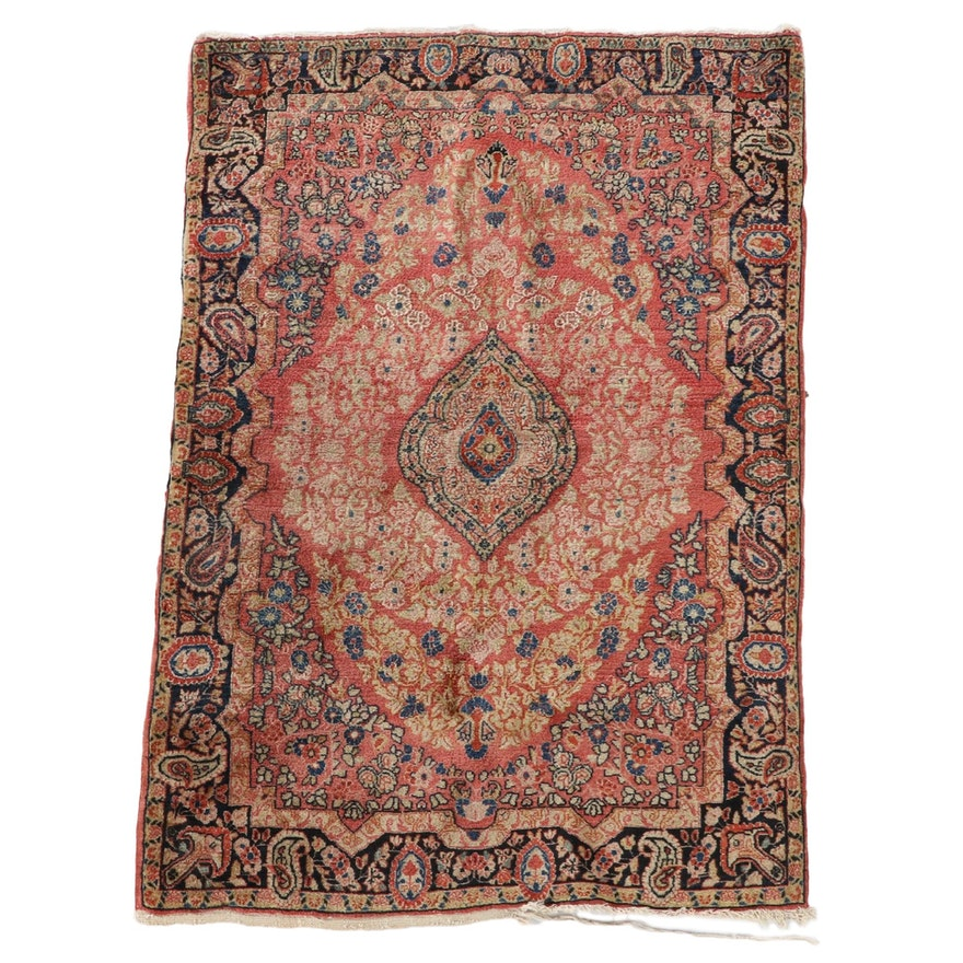 3'6 x 5'2 Hand-Knotted Persian Malayer Wool Area Rug
