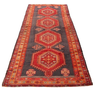 5'1 x 12'5 Hand-Knotted Persian Wool Area Rug