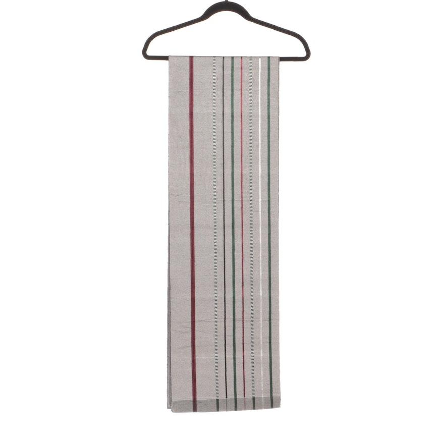 Japanese Striped Woven Silk Obi