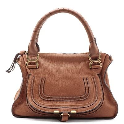 Chloé Marcie Tan Leather Satchel
