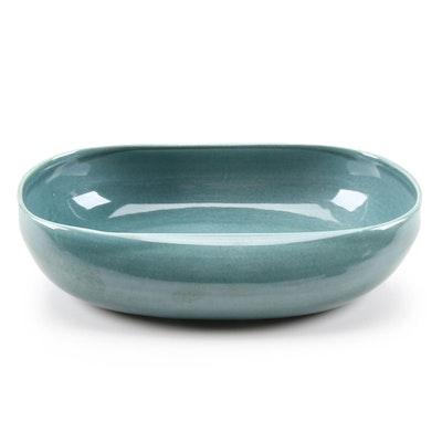 Teal Glazed Ceramic Decorative Bowl
