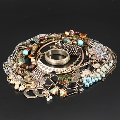 Rhinestone Jewelry Featuring Lucky Brand and Loft