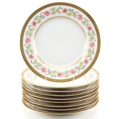 Charles Ahrenfeldt for Ovington Bros. Floral Limoges Porcelain Plates