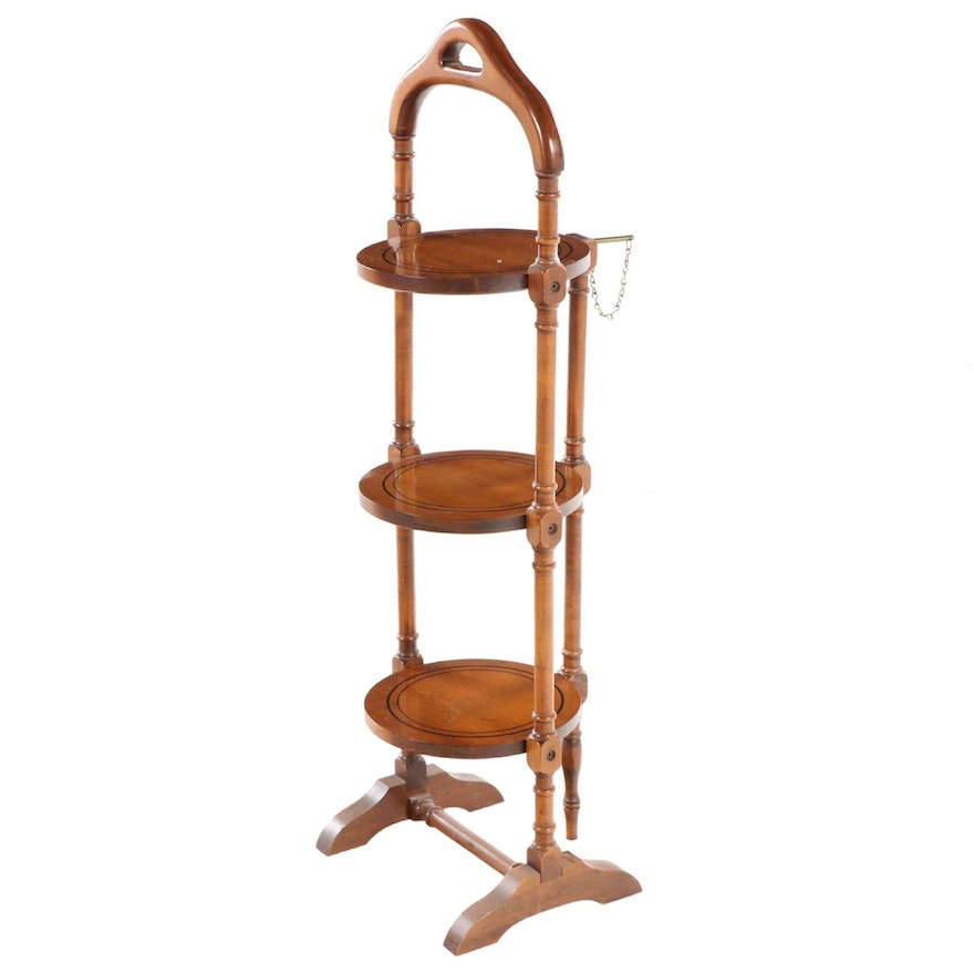 Maple Three-Tier Folding Cake Stand, Mid to Late 20th Century
