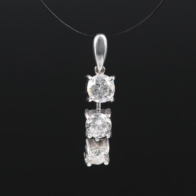 Platinum Diamond Drop Pendant