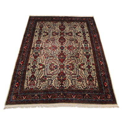 8'10 x 12'7 Hand-Knotted Persian Mehriban Room Sized Rug