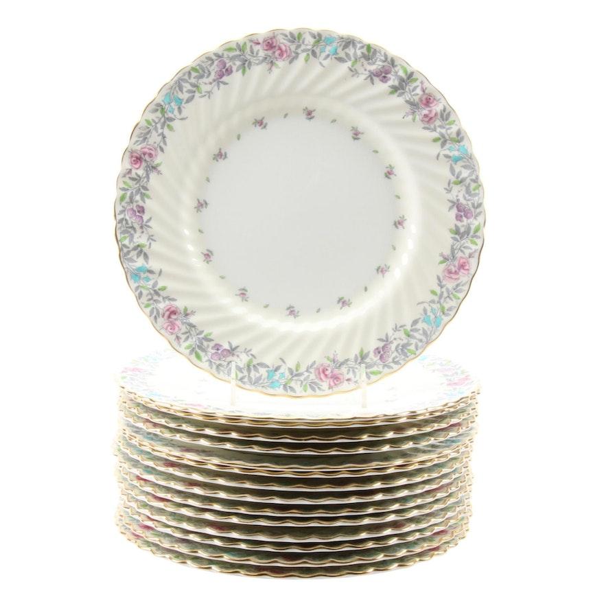 "Minton ""Printemps"" Bone China Dinner Plates, 1939–1969"