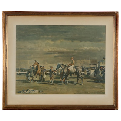 """Color Lithograph after Sir Alfred James Munnings """"After the Race"""""""