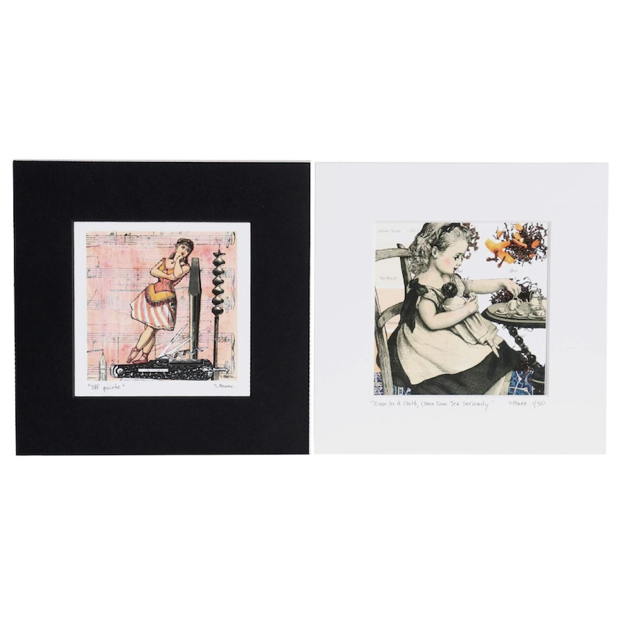 Sara Pearce Color Lithographs of Narrative Collages, 2012