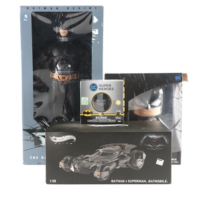 DC Comics Batman Action Figures and Hot Wheels Batmobile Model