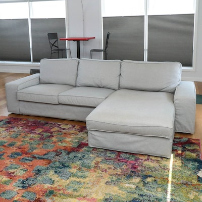 "IKEA ""Porter"" Sectional in Right-Hand Facing Configuration"