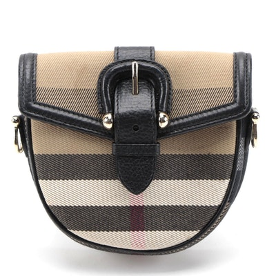 "Burberry Prorsum Mini Shoulder/Belt Bag in Giant ""House Check"" Canvas"