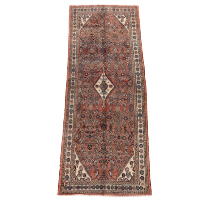 3'8 x 10'0 Hand-Knotted Persian Gogarjin Wool Long Rug