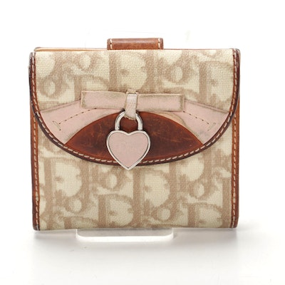 Christian Dior Bifold Wallet in Dior Oblique Canvas and Leather
