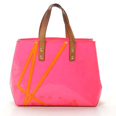 Louis Vuitton Robert Wilson Reade PM Tote in Fluo Rose Monogram Vernis Canvas